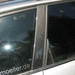 Audi RS4 Lackierung weiss Kohlefaser Karbon