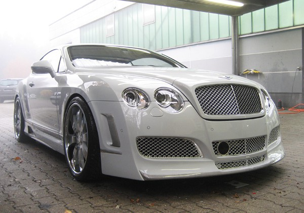 Bentley Continental weiss Verchromen Carbon Tuning
