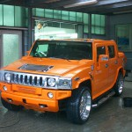 Hummer 2 Lackierung orange