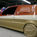 VW Polo 6N orange gold jungle Designlackierung Lack